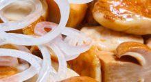 Соленые грибы с луком